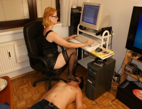 Home office foot worship!