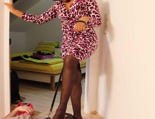 ebony goddess nylon foot domination